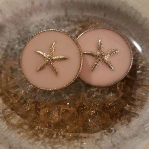 Sand Dollar Blush & Gold Earrings